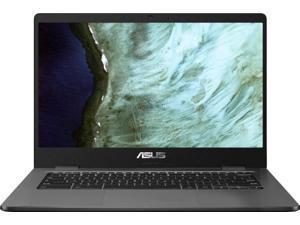 "ASUS Chromebook C423 Laptop 14"" HD Anti-Glare Display Intel Dual-Core N3350 4GB RAM 32GB eMMC 128GB SD Card Intel HD Graphics USB-C Webcam Chrome OS"