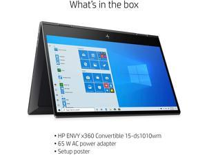 "HP Envy 15 x360 2 in 1 Laptop 15.6"" Diagonal FHD IPS Touchscreen Display AMD 6-Core Ryzen 5 4500U 16GB RAM 512GB SSD Fingerprint Backlit Wifi6 USB-C HDMI B&O Win10"