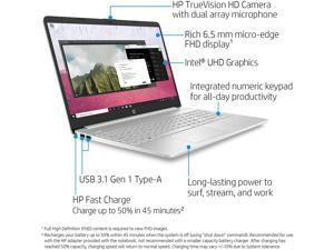 "HP 15 Premium Laptop Computer 15.6"" FHD IPS Touchscreen Display 10th Gen Intel Quad-Core i5-1035G1 12GB DDR4 256GB SSD WiFi Webcam HDMI Win 10"