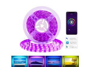Avatar Controls Smart LED Light Strip, Waterproof Wifi Flexible Backlight Strip, RGB LEDs Tape Lighting, Dimmable, 16million Color, 16.4FT/5M, APP Remote Control, Compatible with Alexa/ Google Home