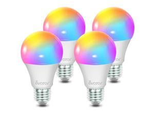 Smart LED Light Bulb, Alexa Light Bulbs WiFi Dimmable Work with Google Home/Smart Life APP, Avatar Controls RGBW Color Changing Lights, No Hub Required (910LM E26 A19 8W=70W Equivalent)