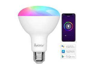 Avatar Controls Smart Wifi Light Bulbs, BR30 Dimmable LED Light Bulbs, 800 Lumen, Time Control, 9W Compatible with Alexa / Google Assistant / IFTTT, Remote Control No Hub Required, E27 Base