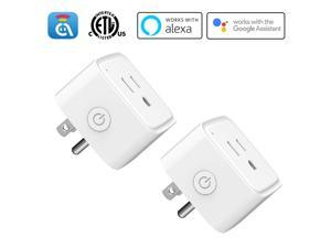 Avatar Controls Smart Plug Outlet, Avatar Controls Wifi Smart Plugs Work with Alexa Echo Dot/Google Home, APP Remote Control Electrical Outlet Switch, No Hub Required (2 Pack)