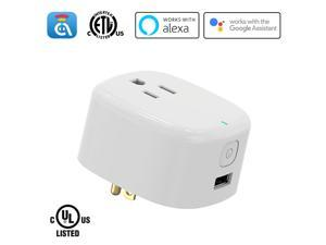 AvatarControls WiFi Smart Plug,UL Certified Wireless Smart Home Outlet Timer Switch,Remote Control ON/OFF Household Appliances Anywhere,Work with Alexa/Google Assistant, No Hub Required
