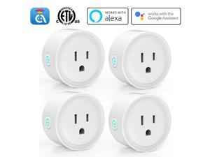 Avatar Controls Alexa Smart Plugs, WiFi Outlet Socket, Smart Outlets Remote Control Timer/On/Off Switch, Work with Google Home/IFTTT, APP Control, ETL FCC Listed (4 Pack)