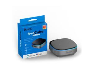 AvaCube Smart AI Voice Controller With Alexa Built-in and IR Remote , Voice Control Smart Home /Avatar Controls / Infrared Device,  Featured IR blaster for TV, STB, DVD, AC, Fan (AI Voice Hub)