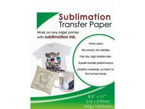 Sublimation Ink Paper 8.5''x11''100 Sheet All EPSON RICOH SAWGRASS Printer