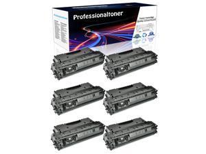 6PK Replacement CE505X 05X Black Toner Cartridge For HP LaserJet P2055dn Printer