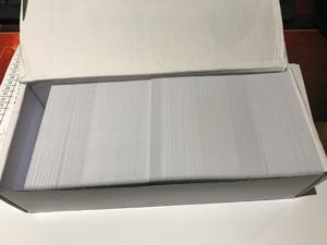 250 PVC Cards Blank White - CR80 .30 Mil, Credit Card size, ID Printer
