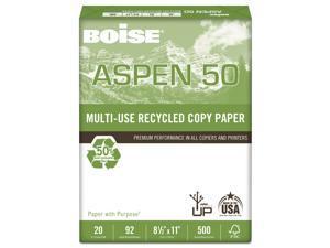 Boise ASPEN 50% Multi-Use Recycled Paper 92 Bright 20lb 8 1/2 x 11 White 055011