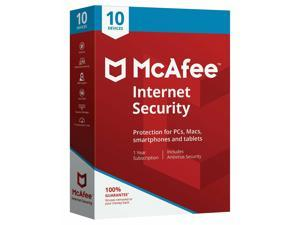 McAfee Internet Security 10 Devices (1-10 MIS00ESTXRAA)