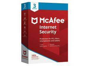 McAfee Internet Security for 3 Devices (1-3 MIS00EST3RAA