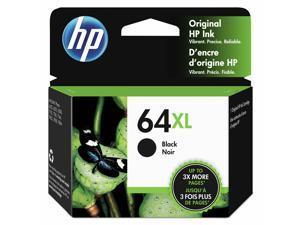 HP 64XL Black High Yield Original Ink Cartridge 600 Page-Yield N9J92AN