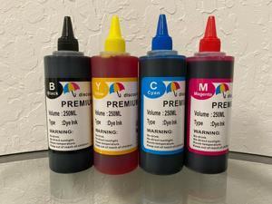 4x250ml refill ink for Epson EcoTank ET-4500 ET-4550 ET-2500 ET-2550