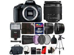 Canon EOS 2000D 24.1MP DSLR Camera + 18-55mm lens + 32GB Accessory Kit