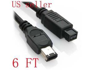 3Ft 3 Feet 9-Pin to 6-Pin FireWire 800//400 Cable IEEE-1394b