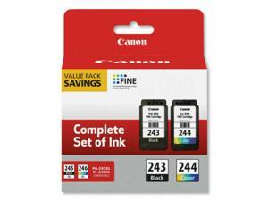 Canon PG-243 / CL-244 Black & Color (Cyan, Magenta, Yellow) Value Pack Ink Cartridges