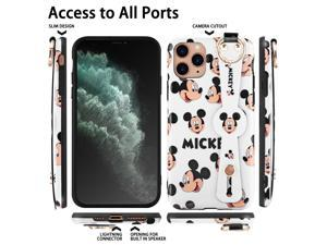 Disney iPhone 11 pro Case Mickey Mouse 5.8inch, Cute Disney iPhone 11 pro Case Cartoon Mickey Design Fashion Animal iPhone Case with Short Wrist and Long Lanyards Soft TPU Protective iPhone Case