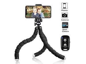 Tripod S Premium Phone Tripod Flexible Tripod with Wireless Remote Shutter Compatible with iPhoneAndroid Samsung Mini Tripod Stand Holder for Camera GoProMobile Cell Phone Upgraded