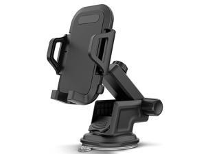 DuraHold Series Car Phone Mount for iPhone 12 11 Pro Max Xs XR X 8 7 Plus SEGalaxy S20 Ultra S10 S10+ S10eNote 10LGHuaweiPixelWashable Sticky Gel PadExtendable Holder Arm Upgrade