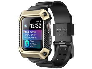 Unicorn Beetle Pro Designed for Apple Watch Series 6SE54 44mm Rugged Protective Case with Strap BandsGold