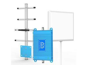 Signal Boosters Verizon Cell Phone Signal Booster 4G LTE  700Mhz Band 13 Mobile Cellular Amplifier Repeater Kits for Home Office Verizon Signal Booster Extend Coverage Up to 4000Sq Ft