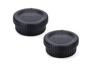 Rear Lens Cap Body Cap Cover  for Nikon F Mount D3500 D3400 D3300 D3200 D3100 D7500 D7200 D7100 D5600 D5500 D5300 D5200 D5100 D850 D810A D810 D800 D750 D500 D40 D5 D4s D4etc 2 Pack