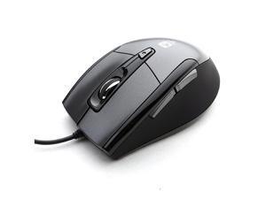 USB Optical Gaming Computer Wheel Mouse 1600 DPI Super Quiet JNL101K Black Silent