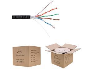 CAT5e 1000FT Shielded Outdoor 24 AWG 350MHz Cable FTP Wire Solid Direct Burial UV Cat5e Shielded FTP