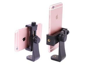 Phone Tripod Mount AdapterVertical Bracket Smartphone HolderCell Phone Clip Clipper Sidekick 360 Degree Smartphone Video Tripod Clamp Compatible for iPhone Xs X 7 Plus Samsung Android