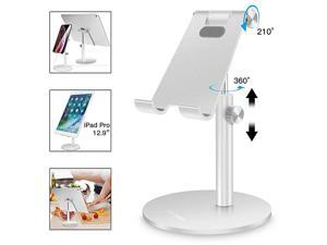 Adjustable TabletPhone Stand Telescopic Adjustable iPad Stand HolderUniversal Multi Angle Aluminum Stand Compatible with iPhone Smart Cell PhoneTabletiPad413 inch Silver