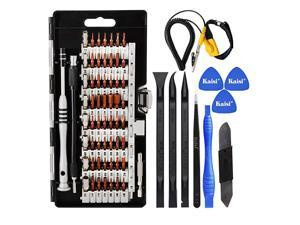70 in 1 Precision Screwdriver Set Professional Electronics Repair Tool Kit with 56 Bits Magnetic Driver Kit Anti Static Wrist Band Spudgers for Tablet Macbook PC iPhone Xbox Game Console