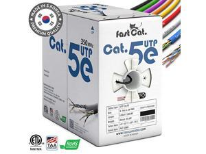 Cat5e Ethernet Cable 1000ft - 24 AWG, CMR, Insulated Bare Copper Wire Internet Cable with FastReel - 350MHZ / Gigabit Speed UTP LAN Cable - CMR (White)