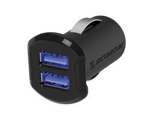 USBC242M Revolt Universal Multi Device Compact Dual Port USB Car Charger Black