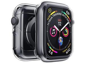 Case for Apple Watch Screen Protector Series 5 Series 4 44mm Ultra Thin iWatch 44mm Screen Protector with Full Protection TPU Cover