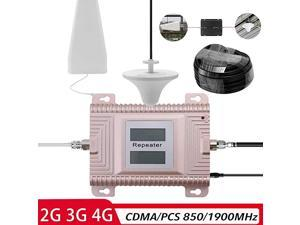 Signal Booster,  CDMA/PCS 850/1900MHz 2G/3G/4G Dual Band Dual LCD Display Mobile Phone Signal Booster Cell Phone Signal Repeater Signal Amplifier Set