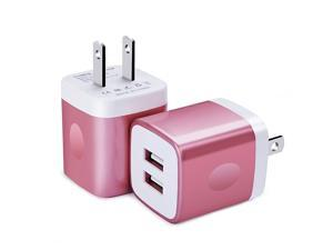 Wall Charger  2Pack Dual Port USB Wall Charger Brick 21A Phone Charger Cube Charging Block Plug Charger Box Charging Base for iPhone X866s7 Plus iPad Samsung S9 S8 S7 S6 Android LG