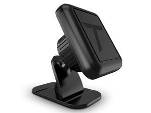 Magnetic Dash Car Mount Phone Holder Desk Stand Compatible with iPhone Samsung Huawei Nokia LG Moto Smartphone Stickon Dashboard 3MAdhesive Bendable Base and Metal Plate Included