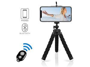 Selfie Stick TripodFlexible Mini Phone Tripod Portable Monopod Stand Holder with Bluetooth Wireless Remote System iOSAndroid for iPhone 88 PlusSamsung GalaxyHuaweiXiaomiSonyLG Black