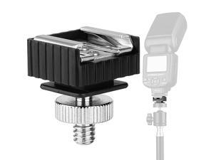 Hot Shoe Mount Adapter to 14 Thread Hole with 1420 Male to 1420 Male Tripod Screw Adapter for Holder Bracket Light Stands Umbrella Holder BracketStrong and Solid Update