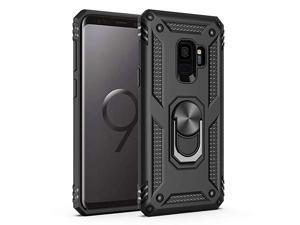 Samsung Galaxy S9 Case Military Grade 15ft Drop Tested Protective Case   Kickstand   Compatible with Samsung Galaxy S9 Black