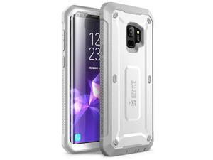 Unicorn Beetle Pro Series Case Designed for Galaxy S9, with Built-in Screen Protector Full-Body Rugged Holster Case for Galaxy S9 (2018 Release) (White)