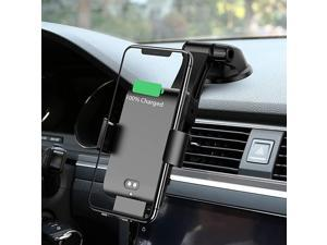 Wireless Car Charger Automatic Clamping 10W Qi Fast Charging Car Charger Mount Compatible with iPhone 12/12pro/12 pro max/11/11pro/11pro MAX/Xs MAX/XS/XR/X/8/8p Samsung S10/S10+/S9/S9+/S8/S8+