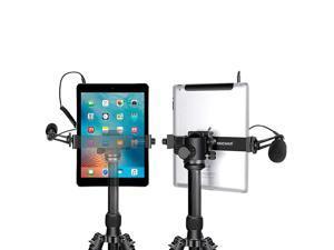 iPad Tablet Tripod Mount Adapter Holder 63925 inches16235 centimeters Adjustable Clamp for iPad Mini iPad 234 iPad AirAir2 iPad Pro Microsoft Surface Samsung Tab 70 Series