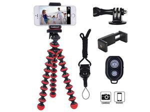 Phone Tripod  Octopus Flexible Tripod with Wireless Remote Phone Holder Mount Use as iPhone Tripod Cell Phone Tripod Camera Tripod Travel TripodTabletop Tripod for iPhone Gopro