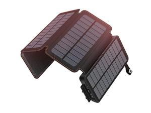 Solar Charger 25000mAh  Rainproof Power Bank with 4 Solar Panels Portable Battery Pack for iPhone, Samsung, Tablets and Smartphone