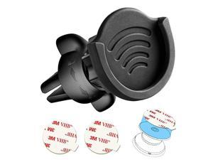 Air Vent Phone Holder for Socket Mount 360° Rotation Vent Clip Car Mount Silicone with Adjustable Switch Lock for Collapsible GripGPS Navigation amp 3M Sticky Adhesive for Expanding Stand