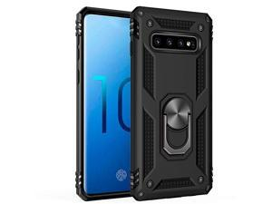 Samsung Galaxy S10 Case Military Grade 15ft Drop Tested Protective Case   Kickstand   Compatible with Galaxy S10 2019Black
