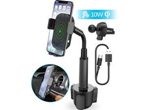 Wireless Car Charger  2in1 Universal Cell Phone Holder Cup Holder Phone Mount Car Air Vent Holder for iPhone Samsung Moto Huawei Nokia LG Smartphones 121 inches