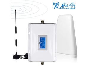 Signal Booster AT&T Cell Phone Signal Booster 4G LTE T-Mobile Cricket US Cellular Band12/17 Cell Signal Booster AT&T Cell Phone Booster Cell Extender Signal Amplifier Boost Voice+Data for Home